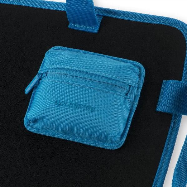Uniwersalna saszetka kieszonkowa na rzep Moleskine 10x9 cm, niebieska