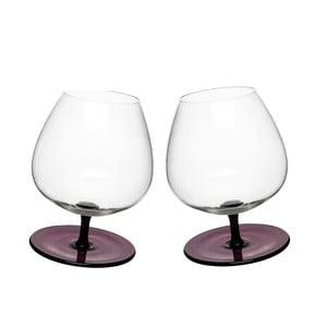 Bujające   się kieliszki do brandy, 2 szt, fioletowe