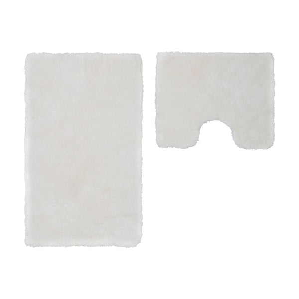 Zestaw 2 dywaników łazienkowych z wcięciem Spotlight White