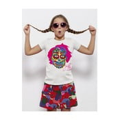 Koszulka dziecięca z krótkim rękawem KlokArt KOlorowa czaszka, 4-5 lat