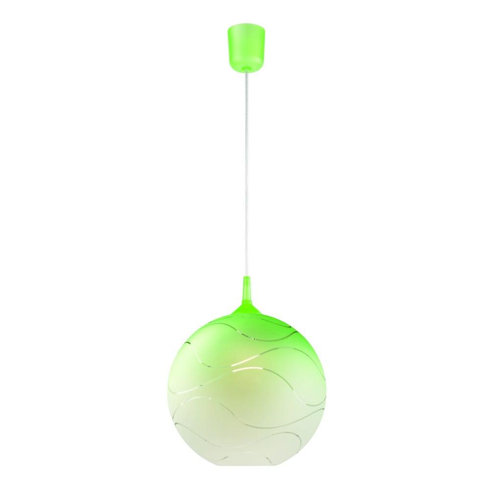 Zielona okrągła lampa wisząca Lamkur Waves