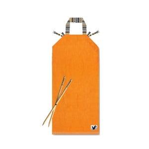 Pomarańczowy leżak plażowy Origama Tribal