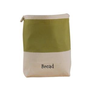 Zielono-biały bawełniany worek na chleb Furniteam Bread