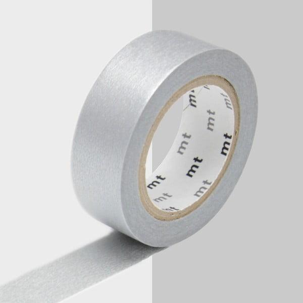 Taśma dekoracyjna washi Uni Silver