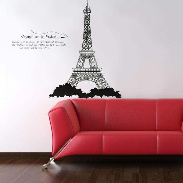 Naklejka ścienna Wieża Eiffela, 60x90 cm