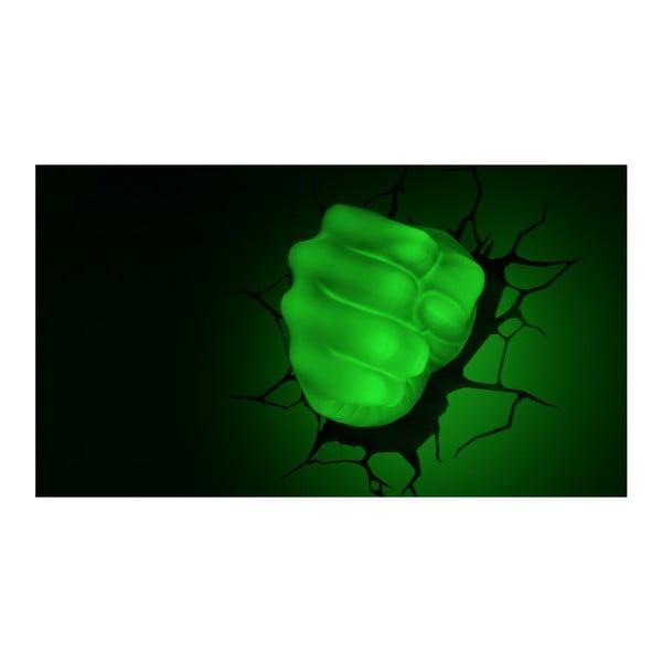 Dziecięca naścienna lampka 3D Hulk