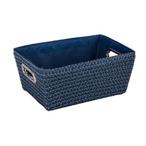 Niebieski koszyk Wenko Bamboo Chromo, szer. 28 cm