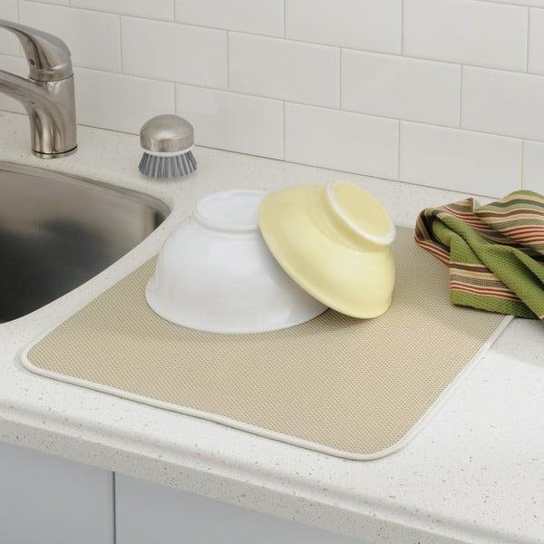 Beżowa podkładka na umyte naczynia iDry