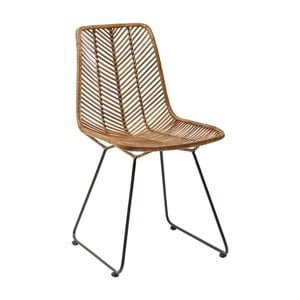 Brązowe krzesło do jadalni Kare Design Ko Lanta