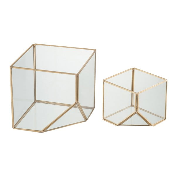Zestaw 2 świeczników Cube, wysokość 10 i 16 cm