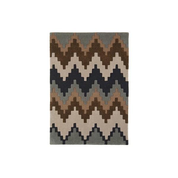 Wełniany dywan Matrix Cuzo Chocolate, 80x150 cm