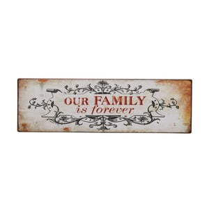 Tablica Our family is forever, 31x10 cm