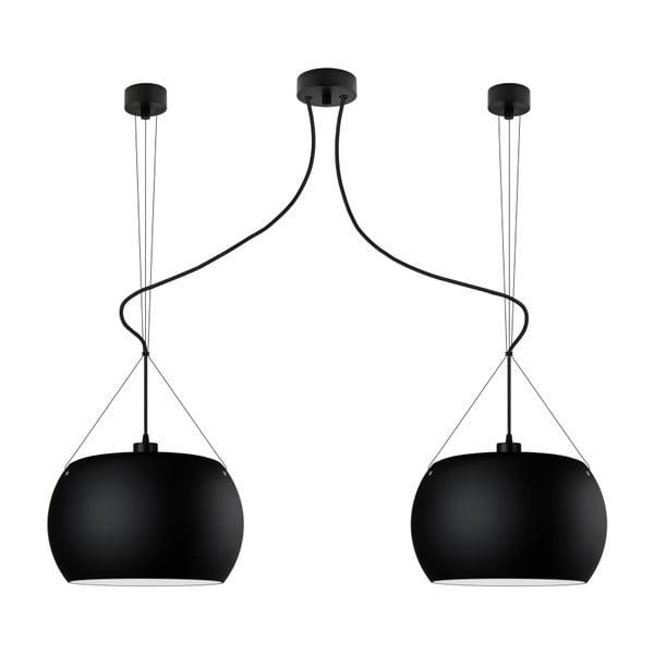 Czarna podwójna lampa wisząca Sotto Luce MOMO