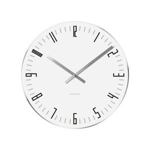 Biały zegar Present Time Slim