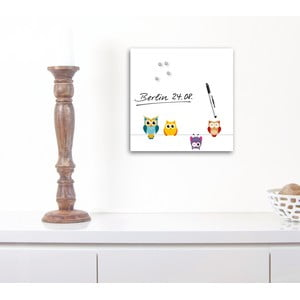 Tablica magnetyczna Eurographic Funny Owls, 30x30 cm