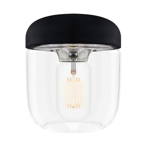 Czarna lampa wisząca z oprawką w srebrnej barwie VITA Copenhagen Acorn,  Ø14cm