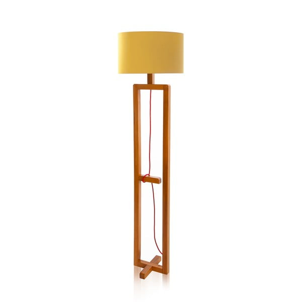Lampa stojąca Dal Yellow Walnut