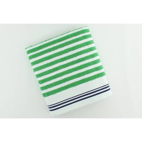 Ręcznik bawełniany BHPC White 80x150 cm, zielony