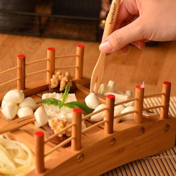 Komplet 6 widelczyków do przekąsek Bambum Salsa