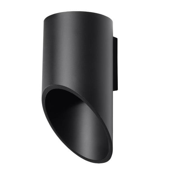 Czarny kinkiet Nice Lamps Nixon, długość 20 cm