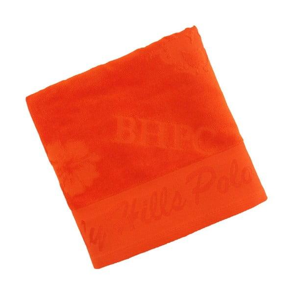 Ręcznik bawełniany BHPC Velvet 50x100 cm, pomarańczowy