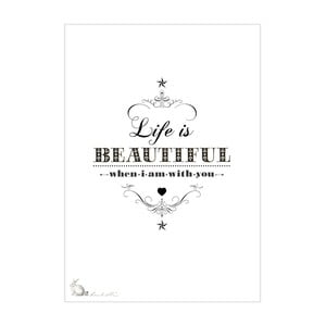 Plakat Life Is Beautiful, 30x40 cm