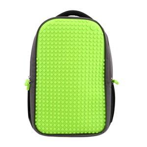 Plecak studencki Pixelbag, szary/zielony