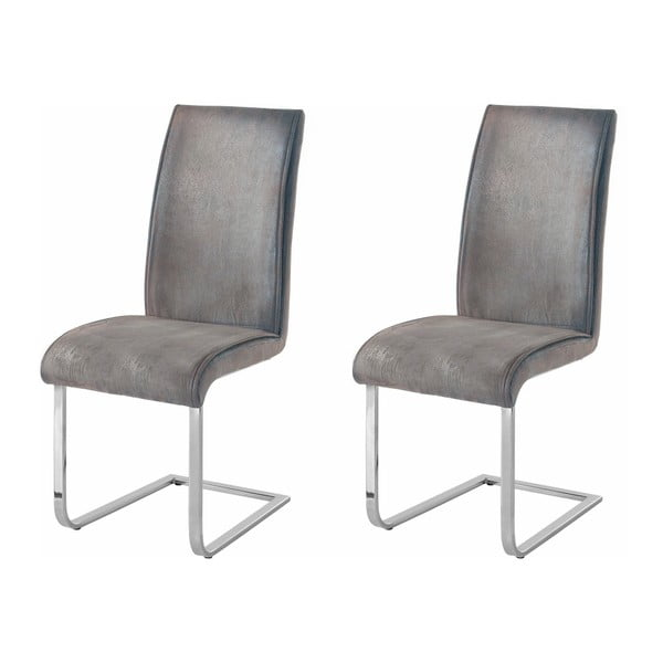 Zestaw 2 szarych krzeseł Støraa Manto