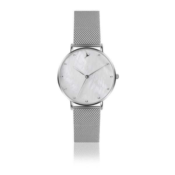 Zegarek damski z bransoletką ze stali nierdzewnej w srebrnym kolorze Emily Westwood Light