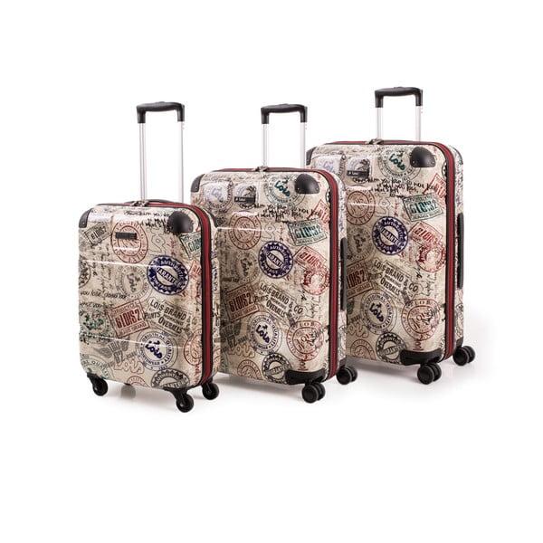 Zestaw 3 walizek Lois Trolley Negro