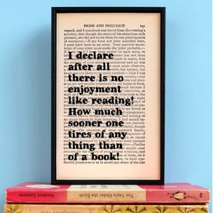 Plakat w   drewnianej ramie Pride and Prejudice Reading