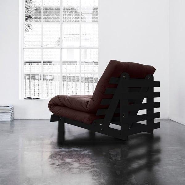 Fotel rozkładany Karup Roots Wenge/Brown
