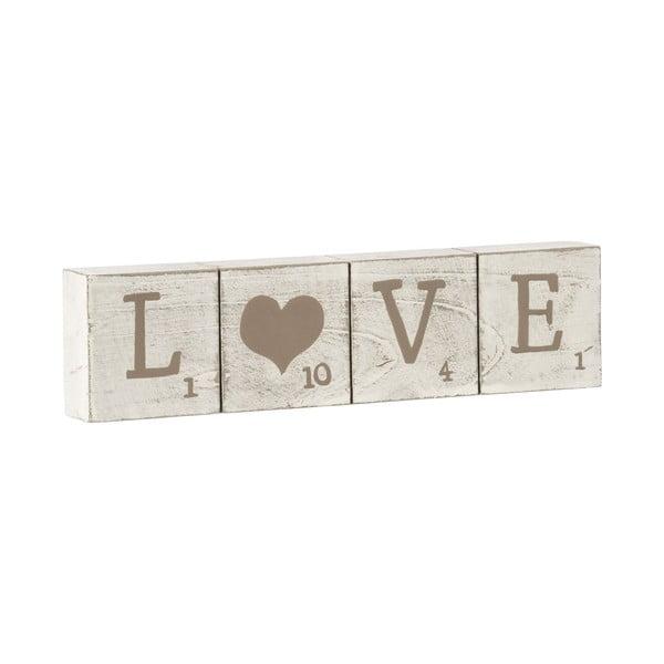 Dekoracyjne kostki z napisem Love