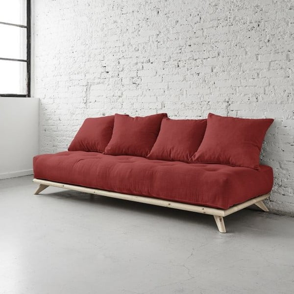 Sofa Senza Natural/Passion Red