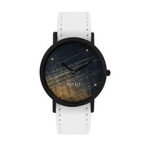Zegarek unisex z białym paskiem South Lane Stockholm Avant Noir