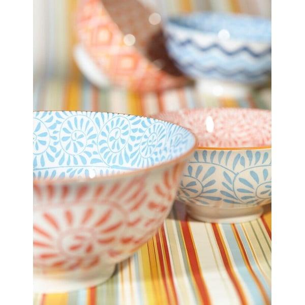 Zestaw 4 porcelanowych kubków Summer