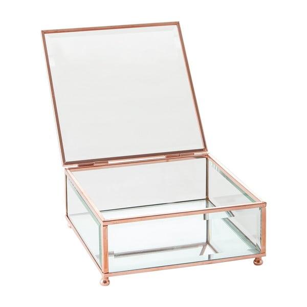Szkatułka J-Line Jewel Glass, 15x15 cm
