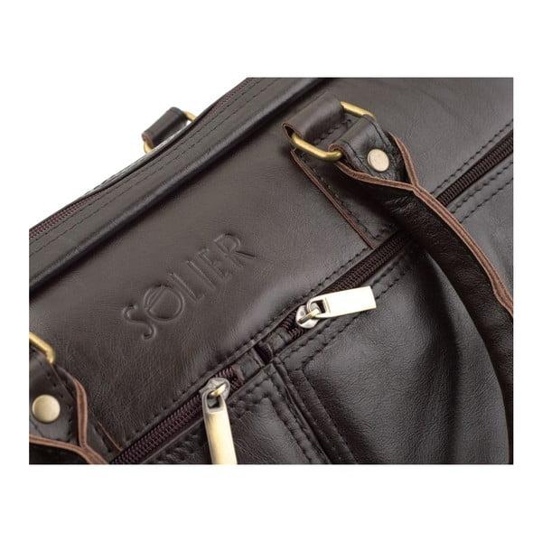 Męska torba skórzana Solier SL01 Brown