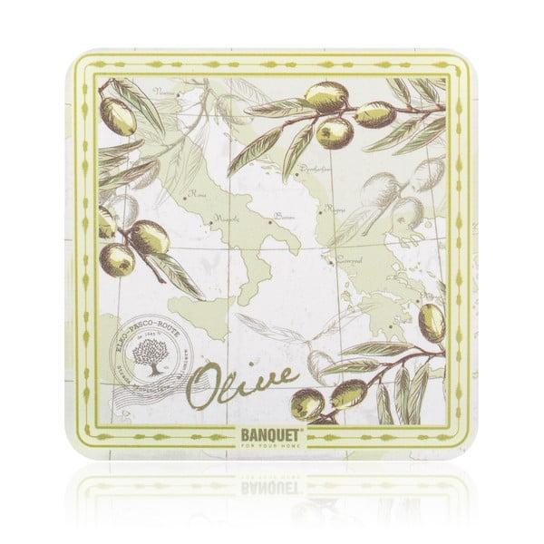 Zestaw mat stołowych i podstawek Banquet Olives, 12 sztuk