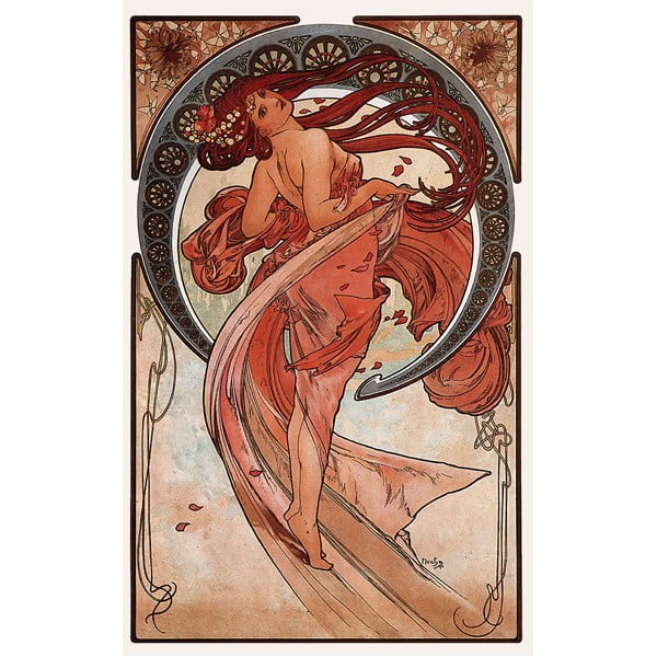 "Obraz ""Dance"" (Alfons Mucha), 50x80 cm"