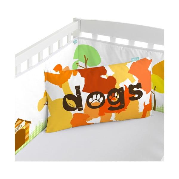 Bawełniany ochraniacz do łóżeczka Mr. Fox Dogs, 210x40 cm