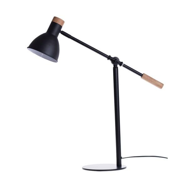 Lampa stołowa Woody, czarna