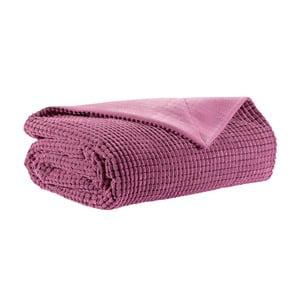 Pikowany koc 130x160 cm, różowy