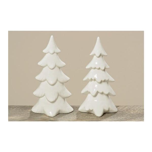Zestaw 2 porcelanowych choinek Tree Winter, 22 cm