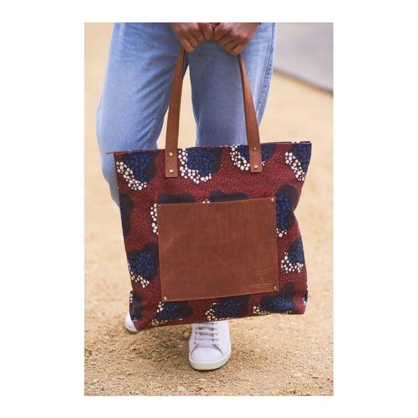 Czerwona torebka skórzana vintage maxi O My Bag Lou's Print