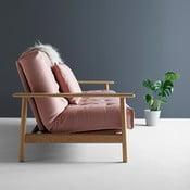 Różowa sofa rozkładana Innovation Balder