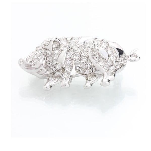 Broszka ze Swarovski Elements, świnka