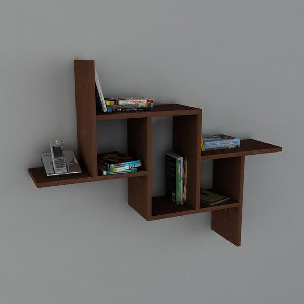Półka Step Book Wenge, 22x107,2x81,8 cm