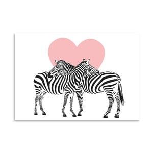 Plakat Americanflat Zebra Couple, 30x42 cm