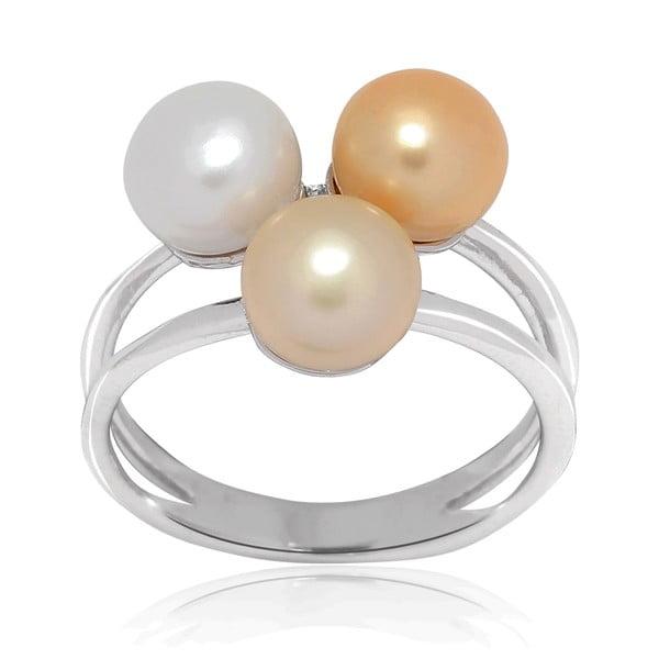 Pierścionek z perłą Nova Pearls Copenhagen Delphine, rozm.58